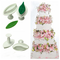 Lily Flower Fondant Plunger Cutter Mold Cake Sugarcraft Decorating
