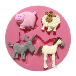 Mammals Animals Silicone Fondant Mold Chocolate Polymer Clay Mould