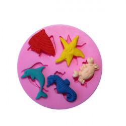 Marine Animals Silicone Fondant Mold Cake Decorating Chocolate Mould