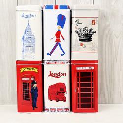 Medium-sized Box Vintage London Style Tea & Coffee Tin