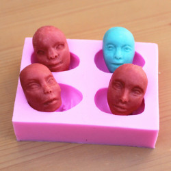 Men's Face Silicone Fandant Mold Chocolate Polymer Clay Mould
