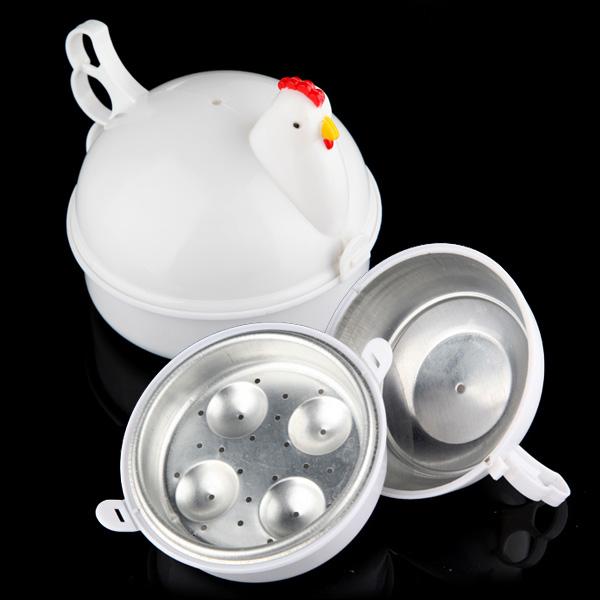 Mikroovn 4 Æg Boiler Komfur Poacher Kogt Kylling Formet Køkken