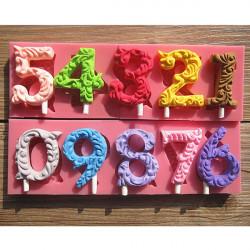 Nummers Form Lollipop Form Fondant Kage Forme Sæbe Chokoladeform