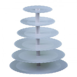 Plastic 6 Tiers Tårta Ställ Detachable Cupcake Shelf Party Use