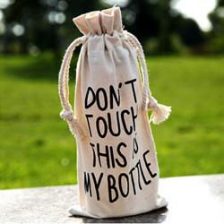 Bärbar Min Flaska Kasse Utomhussport Miljö Gunny Bag Flaska Väska