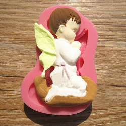 Prayed Boy Angel Silicone Fondant Cake Mold Soap Chocolate Mould