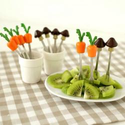 Radish Fruit Forks Set Carrot Snack Fork Kitchen Utensils