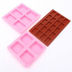Rektangulära Square Silikonform för DIY Chokladkaka Form Tvål