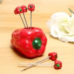Red Peppar Frukt Gafflar Set Snack Sked Husgeråd Kök