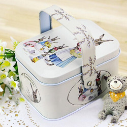 Retro Tote Jewelry Box Storage Tea Coffee Candy Container Box