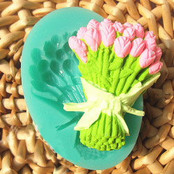 Rose Bouquet Fondant Cake Mold Silicone Chocolate Mould