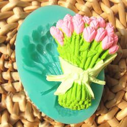 Rosen Blumenstrauß Fondant Kuchen Form Silikon Schokoladen Form