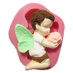 Sending Flower Angel Silicone Fondant Mold Chocolate Clay Mould