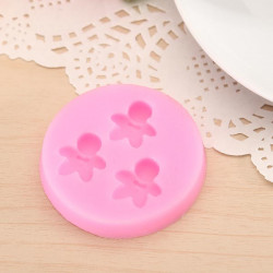 Silicon Smiley Baby Mold Biscuit Fondant Chocolate Cookie Mould