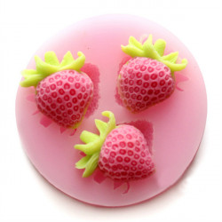 Silicon Strawberry Cake Fondant Mold