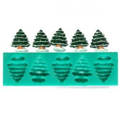 Silicone Christmas Tree Mold Sugar Fondant Cake Mold Baking Tools