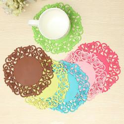 Silikon Coaster rutschfeste Schalen Matte Kissen Halter Getränk Tischset