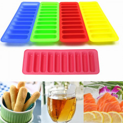 Silicone Cylinder Ice Cube Tray Cookies Cake Chocolate Mould