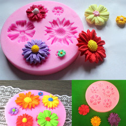 Silicone Flower Mold Cake Decorating Chocolate Sugar Craft Mould