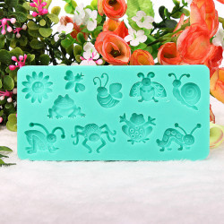 Silicone Insects Bee Cake Mold Fondant Sugar Mould