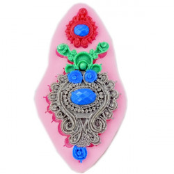 Silicone Jewelry Fondant Cake Mold Pendant Brooch Soap Chocolate Mould
