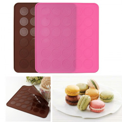 Silicone Pastry Muffin Cake Macaron Oven Baking Mould Sheet Mat