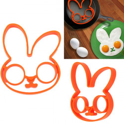 Silicone Rabbit Shape Egg Ring Cooking Mould Breakfast Pancake Mould