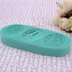 Silicone Roses Love Bird Angel Girl Mold For Chocolate Cake