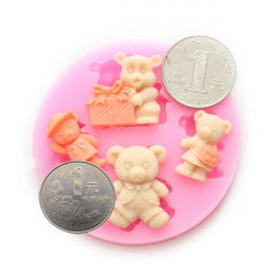 Silicone Winnie Fondant Cake Cupcake Mold DIY Chocolate Mold