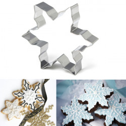 Snowflake Cookie Cutter Biscuit Baking Fondant Cake Mold