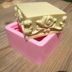 Square Lace Silicone Soap Mold Fondant Cake Chocolate Mould