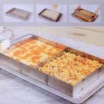 Rostfritt Stål Justerbar Rektangel Mousse Tårta Ring 6-12 Inch Kök