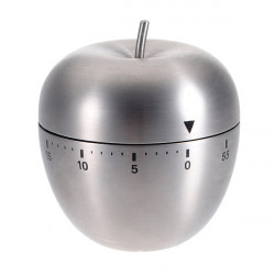 Rostfritt Stål Apple 60 Minute Cooking Mekanisk Alarm Timer