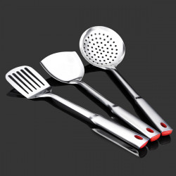 Stainless Steel Cooking Tool Set Pancake Turner Spatula Colander