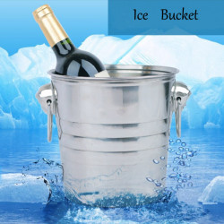 Stainless Steel Ice Bucket Champagne Barrel Beer Wine Cooler