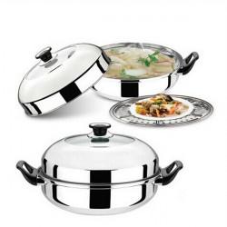 Stainless Steel Multifunction Soup Pot Milk Pot Steamer