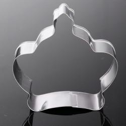 Rostfritt Stål Princess Crown Cookie Cutter Tårta Bakning Tool Form
