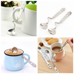 Stainless Steel Smiling Face Coffee Spoon