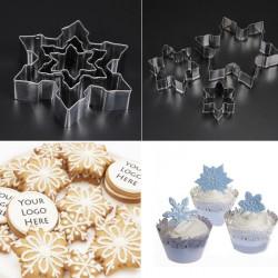 Rustfrit Stål Snowflake Cookie Kage Fondant Dekoration Skærer Forme