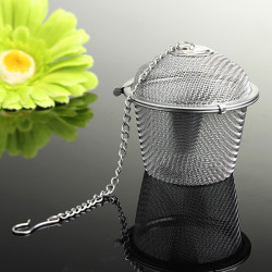 Rustfrit Stål Spice Te Filter Urter Locking Infuser Mesh Ball