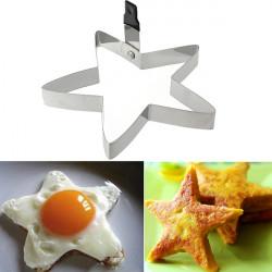 Rostfritt Stål Stjärnformad Kök Stekt Ägg Cookie Cutter Verktyg