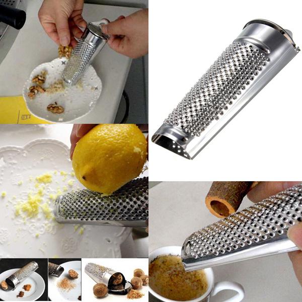 Rostfritt Stål Mångsidig Hand Held Nutmeg Citrus Ginger Rivjärn Kök