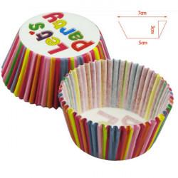 Randig Paper Kopp Oberoende Förpacknings Tårta Chocklad Form
