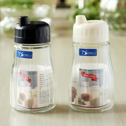 Transparent Glas Oljeflaskan Sojasås Vinäger Cruet Flaska