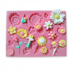 Tulip Daisy Solsikke Silikone Udstikker Fondant Chokolade Bagning Mould