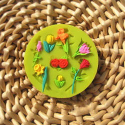 Valentine Rose Lily Tulip Fondant Kuchen Form Flüssig Silikon Form
