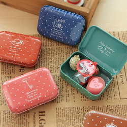 Wave Point Tinplate Te Box Gift Candy Jewelry Förvaring Tin Can