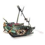 0-56 Akvarium Dekoration Hälften Shipwrecks Prydnad Husdjurstillbehör