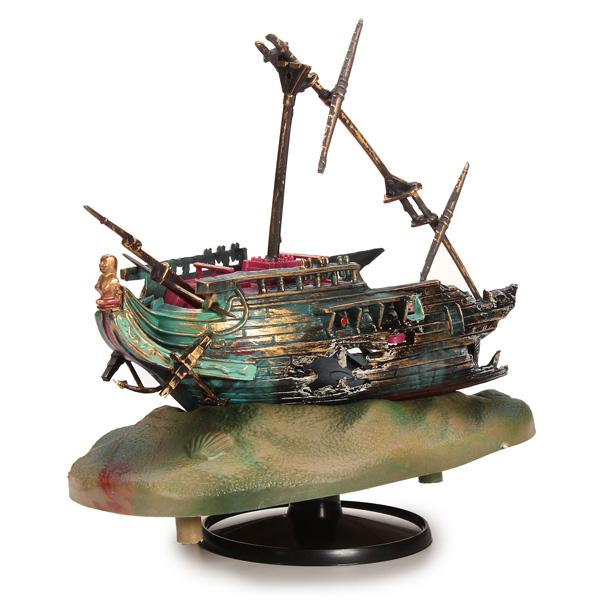 0-90 Aquarium Decoration Rocking Shipwrecks Ornament Pet Supplies