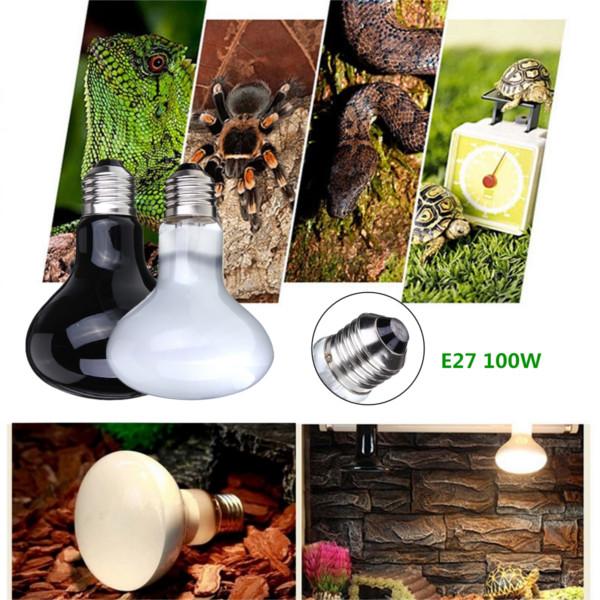 100W Reptil Sköldpadda Chick Husdjur GRUBBLARE Basking Heat UVA Light Bulb Husdjurstillbehör